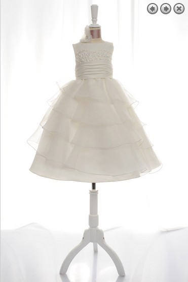 free shipping 2015 new hot seller custom size white ivory actual images selena gomez real pictures A-line Flower Girl Dresses