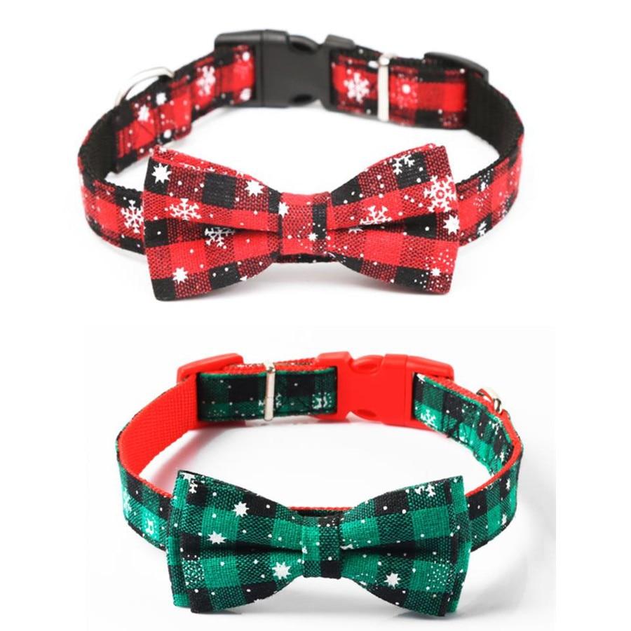 Plaid Christmas Adjustable Dog Collar  Pet Collar