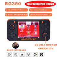 ANBERNIC Retro Game RG350 Video Game Handheld Console Mini 64 Bit 3.5 inch IPS Screen 16G 32G TF 2500+ Games Player Original