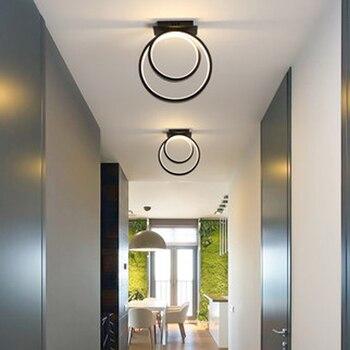 Gold/Black Modern Led Chandelier for living Room Bedroom study Room Round 110V 220V Chandelier Lighting Fxitures