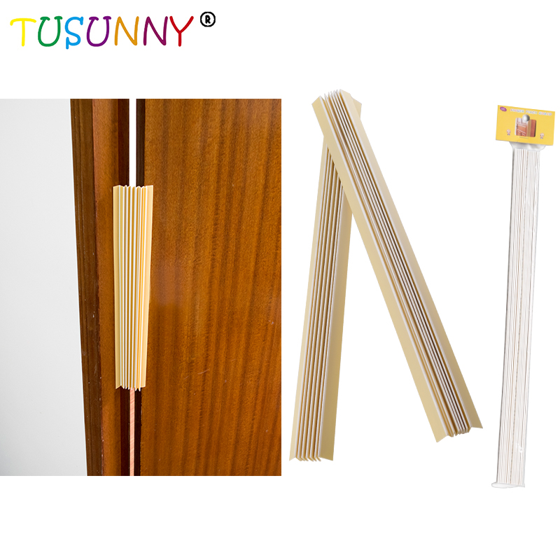TUSUNNY 2 Pcs/set PVC Baby Fingers Care Children Safety Bumper Strip Edge Guard Finger Protective Strip Baby Safety Door Pinch