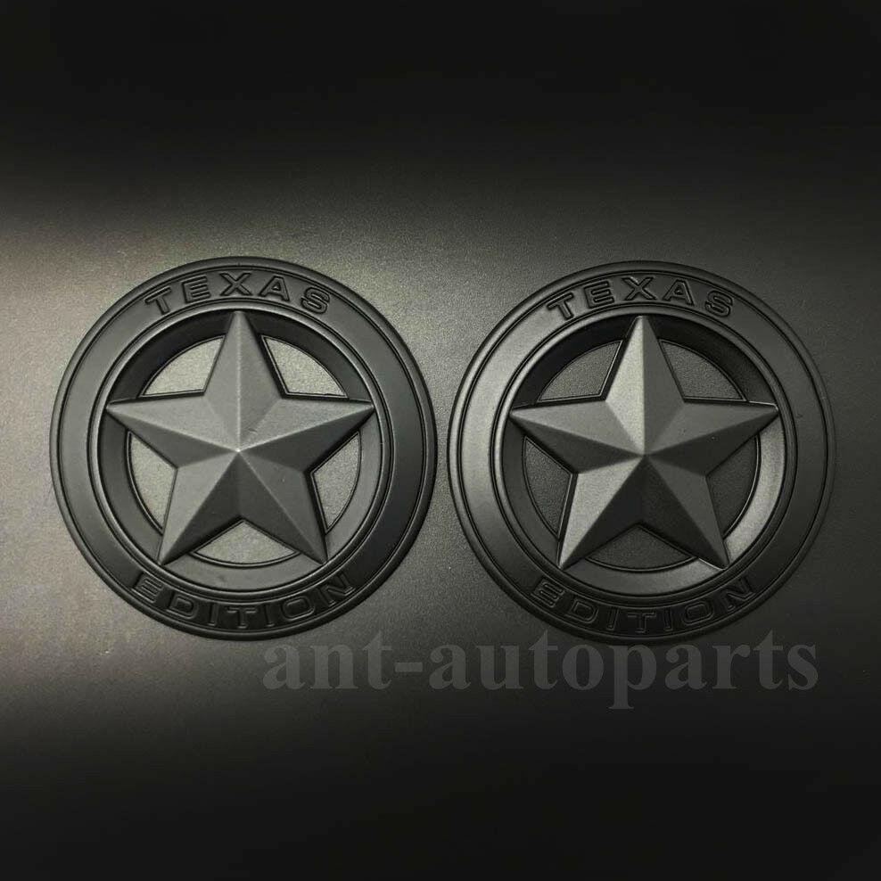 2 шт. матовая черная эмблема «Texas Edition» звездный флаг Эмблема багажника автомобиля Наклейка