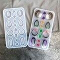 Кристальная эпоксидная смола, форма, серьги, кулон, ювелирные изделия, литье, силиконовая форма 54DC
