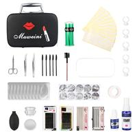 22pcs Eyelashes Grafting Set False Lashes Extension Grafted Practice Kit with Makeup Case for Starter
