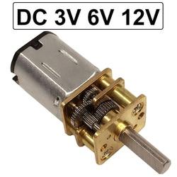 N20 3V 6V 12 V Электрический микро DC Шестерня ed Мотор 12 вольт низкая скорость 15 до 1000RPM металлические моторные шестерни Регулируемая скорость обр...