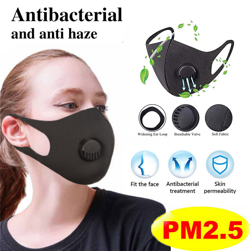 Anti PM 2.5 Pollen Dust Breathing Mask Washable Reusable Anti-fog Activated Carbon With Filter Adjustable Unisex Face Mask 2020