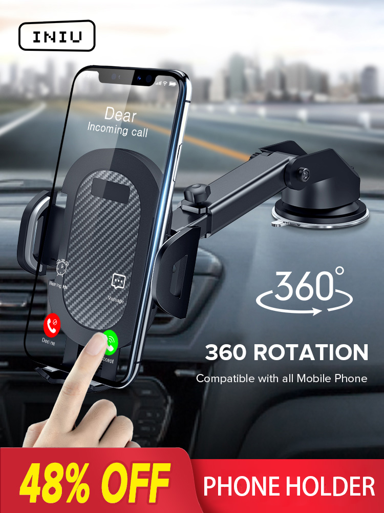 INIU Sucker Car Phone Holder Mobile Phone Holder Stand in Car No Magnetic GPS Mount Support