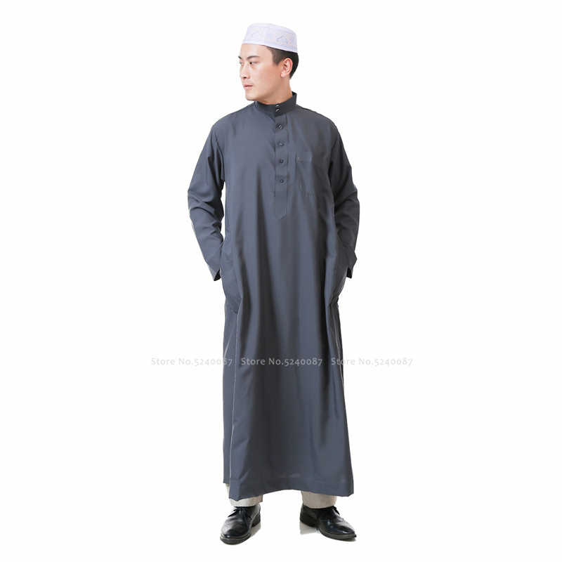 Baju Muslim Pria Abaya Jubba Thobe Doa Tradisional Jubah Pakaian Set Dubai Arab Pakistan Kaftan Blus T-Shirt Mantel