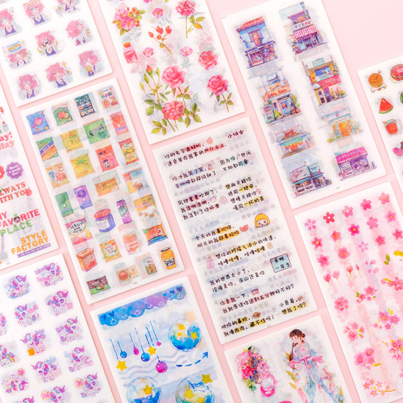 Купить с кэшбэком 1pack/lot Kawaii Cartoon Sticker For Kid DIY Decoration Scrapbooking Stickers Pegatinas Stickers Bullet Journal Papelaria