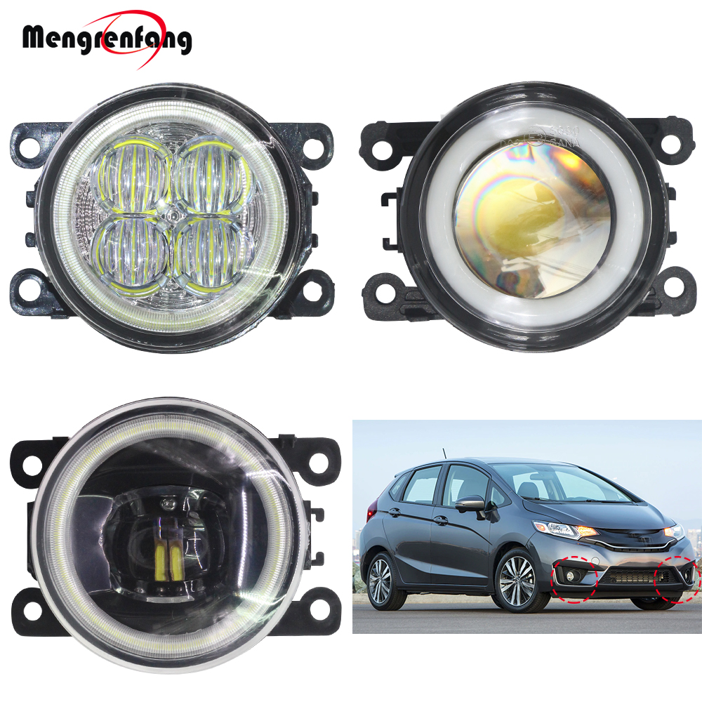2 X Car Front Fog Light H11 LED Halo Ring Angel Eye DRL Daytime Running Light 12V For <font><b>Honda</b></font> <font><b>Fit</b></font> <font><b>2015</b></font> <font><b>2016</b></font> 2017 2018 image