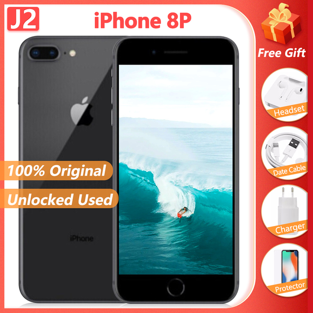 "100% Original Apple iPhone 8 Plus 3GB+ 64GB/256GB Hexa Core Smartphone 5.5"" 12MP iOS A11 4G LTE Unlocked Used Mobile Phone 1"