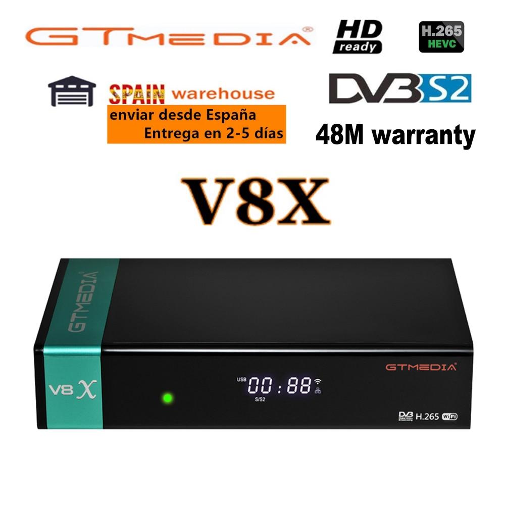 DVB-S2 Gtmedia V8X спутниковый декодер с гарантией Gtmedia V8 nova Full HD h.265 Поддержка DVB-S2X CA слот для карт памяти Встроенный Wi-Fi, нет приложения
