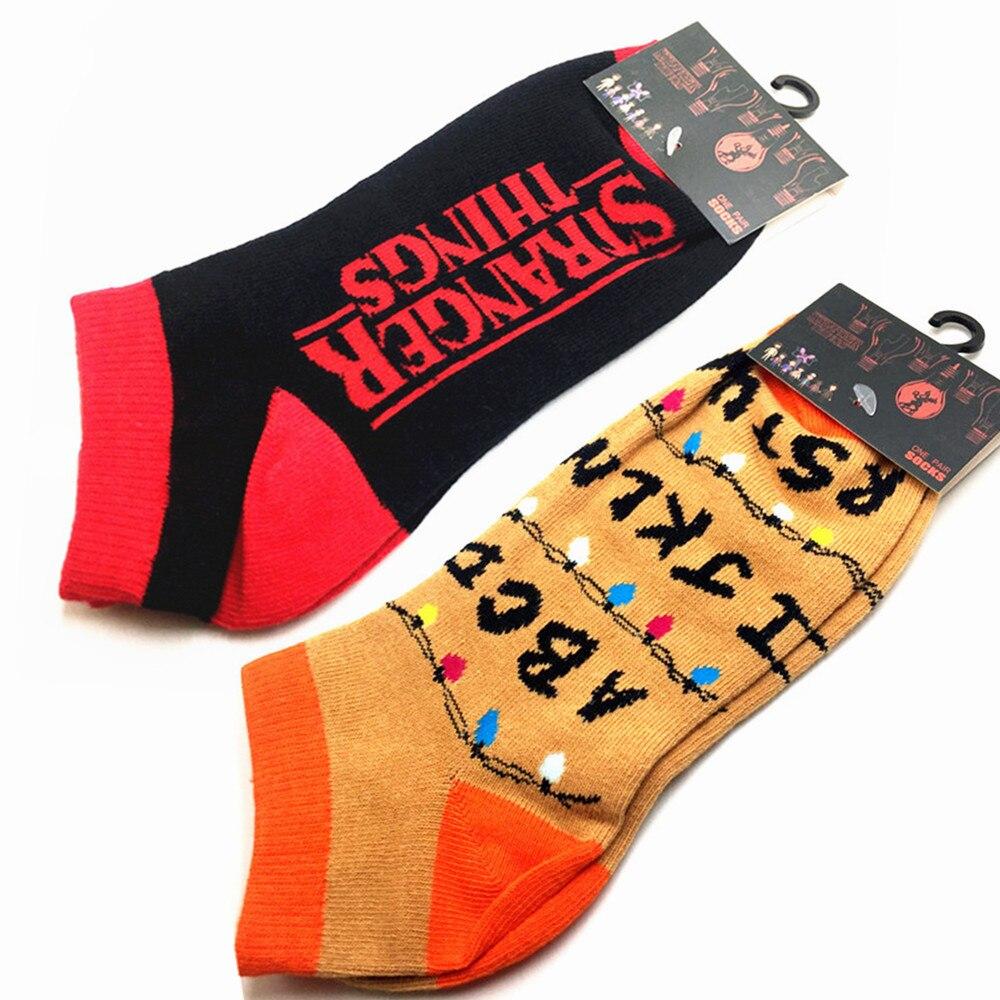Sports Ankle socks Stranger things cosplay Short Socks Cartoon Unisex wicking Anime Boys Girls Casual Thin Hosiery Boat socks