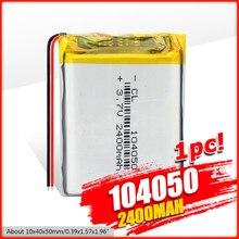 Batterie Rechargeable, 2/4 V, 3.7 mah, 2400 Li-ion, polymère, Li Po, pour lampe solaire, batterie externe, Radio, GPS, 1/104050 pièces