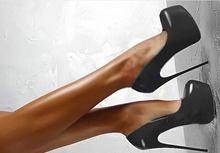 Spring/Autumn Sexy Wedding Fetish Round Toe Woman Pumps Platform Very High Heel Pumps 16 cm Black Red rtg67