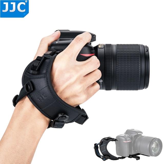 "JJC Deluxe מצלמה יד גריפ רצועת יד עבור Sony ניקון Canon פוג י Panasonic אולימפוס עם 1/4 "" 20 חצובה שקע עבור DSLR"