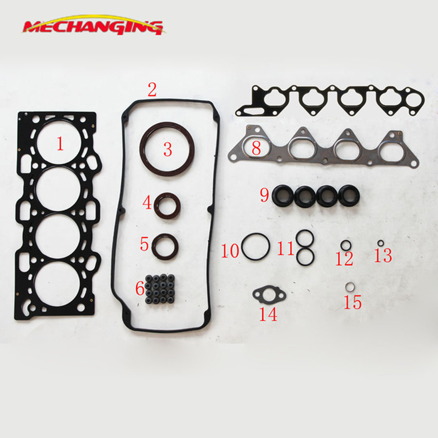 4G93 FOR <font><b>MITSUBISHI</b></font> PAJERO PININ 1.8 (H76W, H66W) Metal Engine Rebuild Kits shim Full Set Engine Gasket 50239100 image