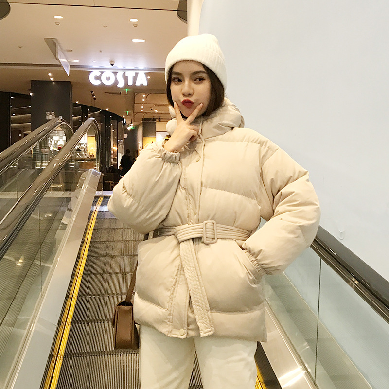 Belt Cotton-padded Clothes Women's Short 8688 New Year Red Cotton Coat Nationwide Throughout Goods Support Procurement Service O