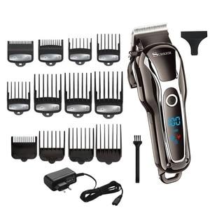 Image 2 - Turbo barber hair clipper professional hair trimmer men beard car electric hair cutter adjustable hair cutting machine haircut
