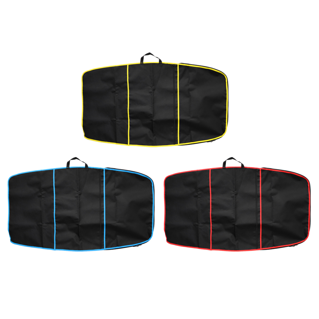 Deluxe 49-inch Surf Bodyboard Cover Carry Bag With Zipper Front Pocket For Surfing Water Sports