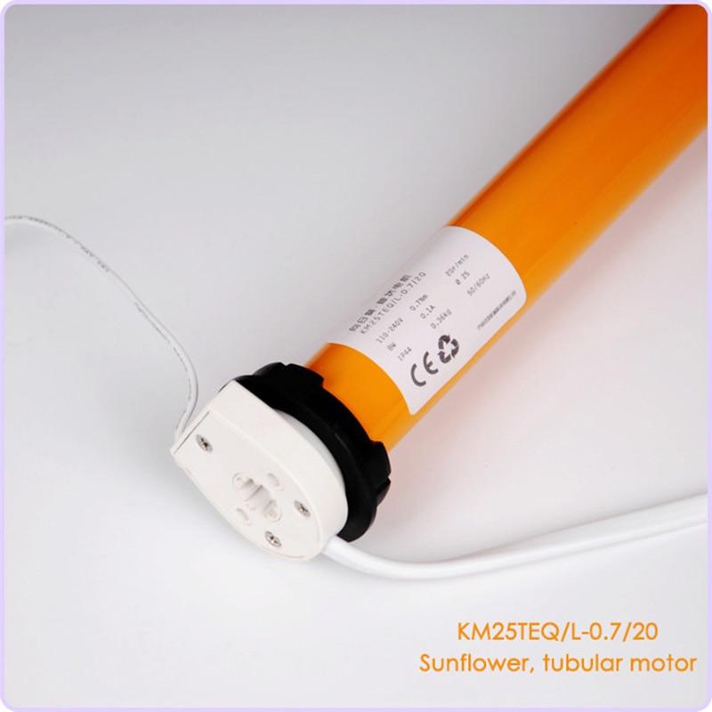 Sunflower Roller Blinds Motor 100-240V AC Tubular Motor Suitable For 38mm Roll Tube For Smart Home System KM25TEQ-0.7/20