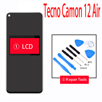 New Tecno Camon 12 Air LCD Display and Touch Screen Digitizer Assembly Repair Parts for Tecno Camon 12 Air