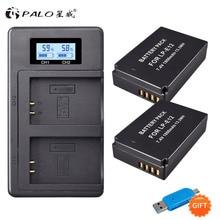 2Pcs 1800mAh LP-E12 LP E12 LPE12 Li-ion Battery +LCD USB Dual Charger for Canon EOS M50, M100,100D Kiss X7 Rebel SL1 Camera