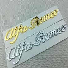 цена на Car Body Decoration for Alfa Romeo Emblem for Alfa Romeo 155 156 Mito 159 Giulia GT Giulietta 147 Metal Car Side Sticker Styling