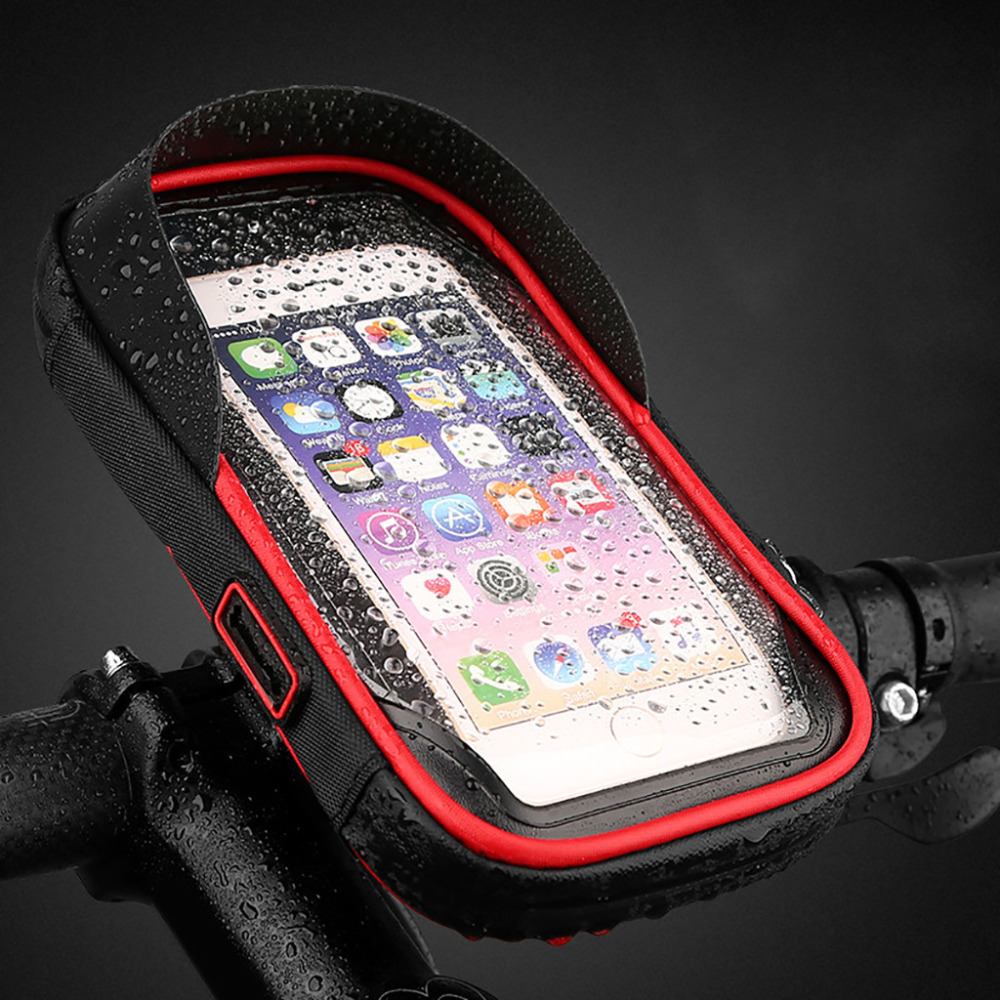 Waterproof Motorcycle Mobile Phone Holder Bag Case MTB Touch Screen 4.5-6.5 Inch #4V29 (6)