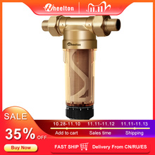 """Wheelton água pré filtro (WWP 02S) transportar dois limpadores euro padrão bronze 30 anos lifitime purificador casa inteira 1/2 """"& 3/4"""" & 1"""""""