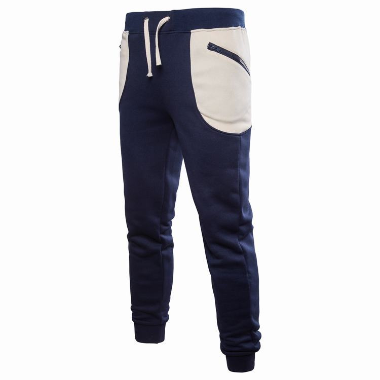 2018 AliExpress Autumn And Winter New Style Men Casual Athletic Pants Pocket Zipper Trousers With Drawstring Sweatpants Closing