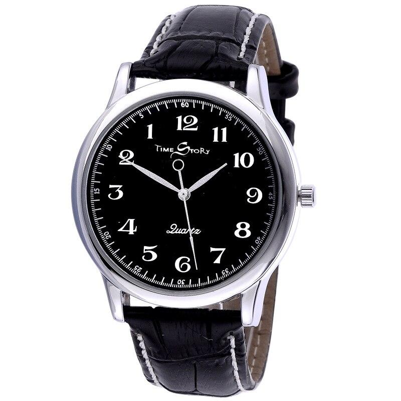 Купить мужские кварцевые часы против часовой стрелки обратная шкала