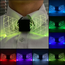 New LED Light up Mens Bow Tie Luminous Necktie Wadding Party Christmas Costume Glowing Bow tie Dance Party Supplies
