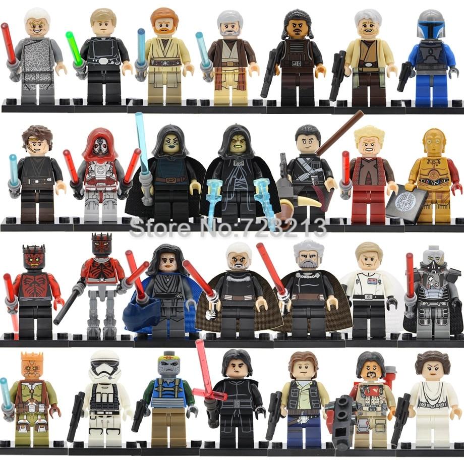 Star Wars Single Figure Barriss Offee Owen Lars Tasu Leech Leia C3PO Turk Falso Naare Mandalorian Building Blocks Toys Legoing