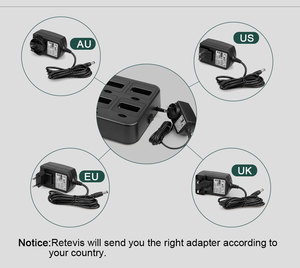 Image 5 - جهاز اتصال لاسلكي صغير مفيد 6 قطعة Retevis RT622 PMR راديو RT22 FRS لاسلكي الاتصال + شاحن بستة اتجاهات مطعم الفندق سوبر ماركت