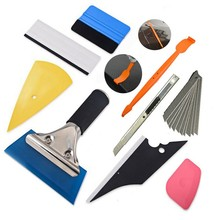 9 in 1 Car Window Tint Vinyl Wrap Tool Kit Film Install Micro-Squeegee Knife Blade(China)