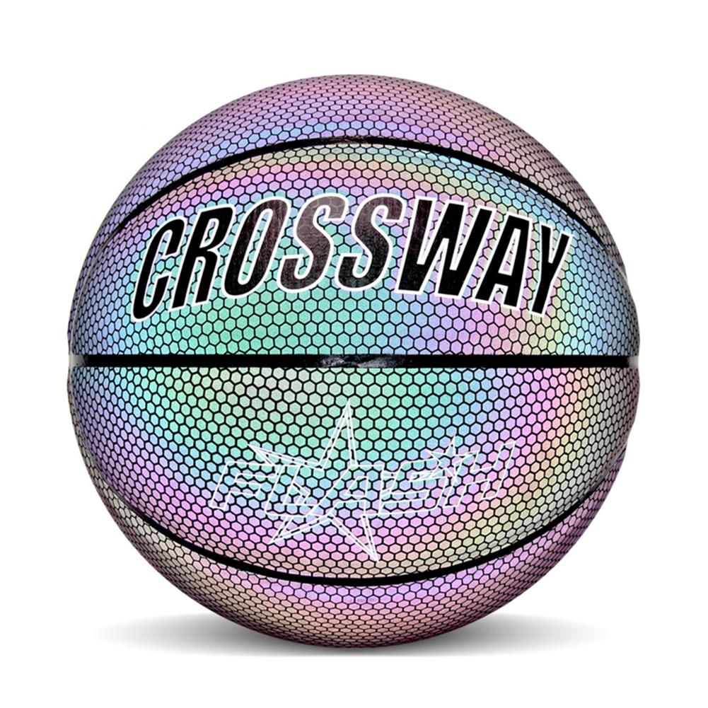 HOT Sale Luminous Basketball Night Game Street PU Glowing Rainbow Light Children Training Tool Street Basketball Show Trainning