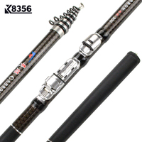 K8356 30T Carbon Spinning Telescopic Rock Fishing Rod 1.8/2.1/2.4/2.7/3.0/3.6M MH Power Carp Feeder Rod High Quality Hand Pole Fishing Rods     -