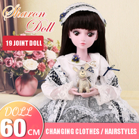Demi doll Sharon 60cm changing doll suit large gift box joint doll girl toy