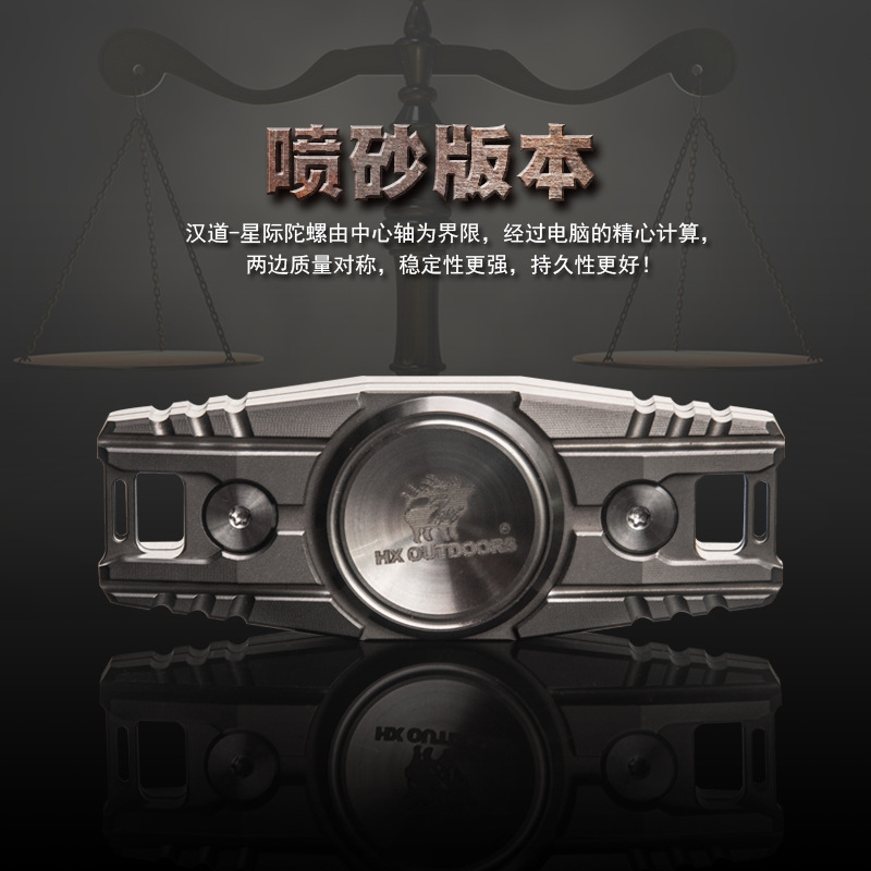 A139 Titanium Alloy TC4 Fingertip Gyro Finger Gyro Ceramic Bearing Spiral Decompression EDC Gadget