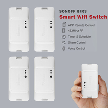 New SONOFF RFR3 WIFI DIY Smart RF 433 Control Switch Automation Compatible with Homekit Amazon Alexa Google Home Vera