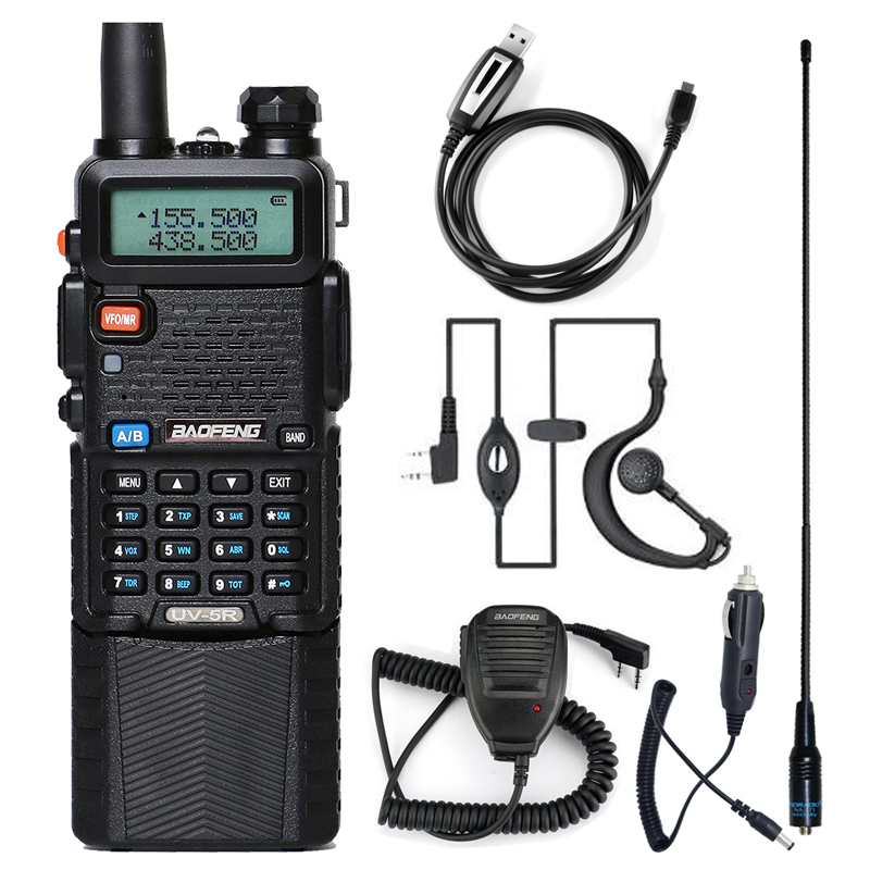 Baofeng Walkie Talkie uv 5r 3800 Dual Band VHF UHF 136-174/400-520mhz Two-way Radio walky talky uv-5r Radio Station image