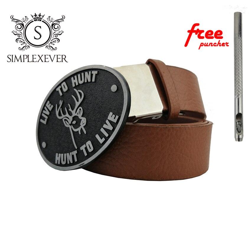 Men's Silver Deer Belt Buckle Cowboy Oval Metal Animal Belt Buckles Suit 4cm Belt Mens Jeans Accessories