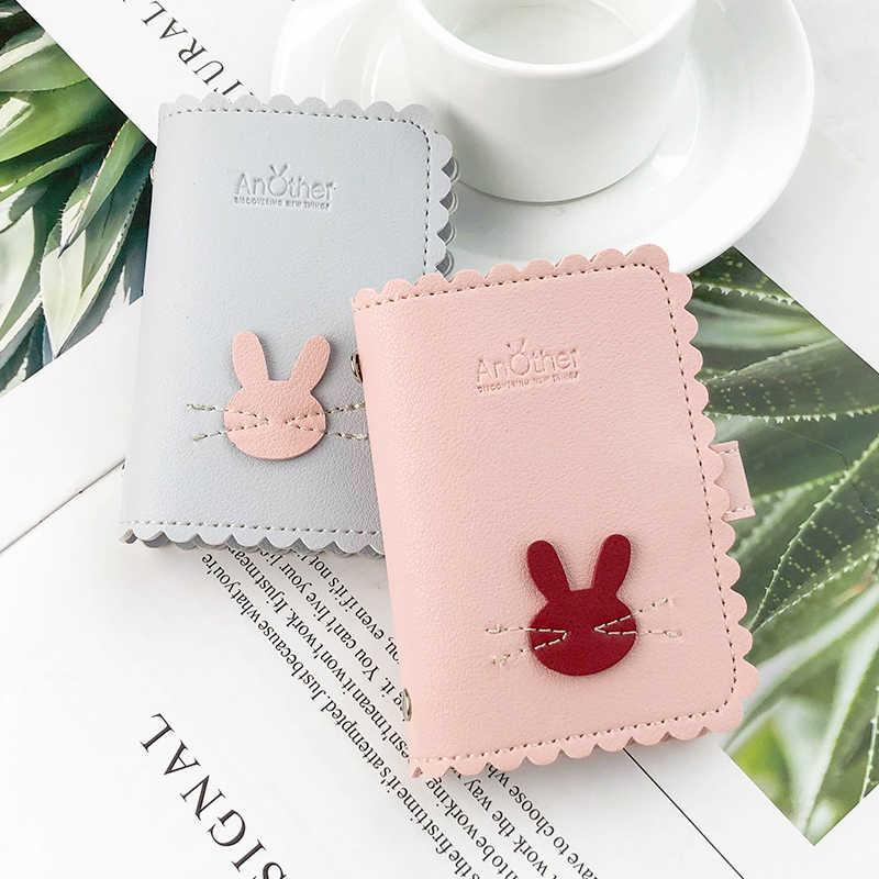 Funda de cuero para Mujer con 24 ranuras de conejo para Mujer, cartera, funda de pasaporte de alta calidad para Mujer Carteira 2019