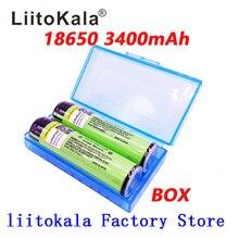 Liitokala 2 sztuk oryginalny 18650 3400mah chronione baterii 3.7V litowo jonowy akumulator