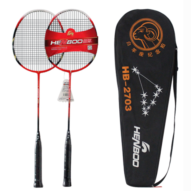 HENBOO Standard Badminton Set Ultra-light Carbon Composite Training Badminton Racket And Tote Bag Lightweight Sports Equipment