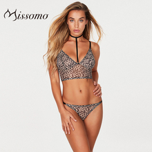 Missomo 2019 New Fashion Women Wild Leopard Print Perspective Low Waist Sexy Thong