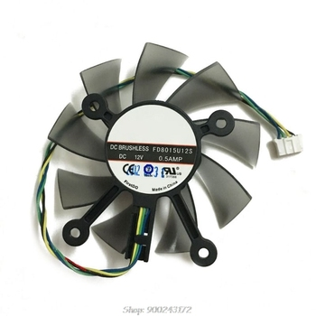 75MM FD8015U12S DC12V 0.5AMP 4PIN Cooler Fan for asus GTX 560 GTX550Ti HD7850 Graphics Video Card Cooling Fans S30 20 Dropship image