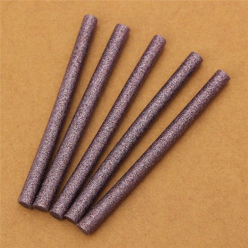 20PCS 7mm X 100mm Hot Melt Glue Sticks 7mm Adhesive Assorted Glitter Glue Sticks Professional For Electric Glue Gun Craft Repair