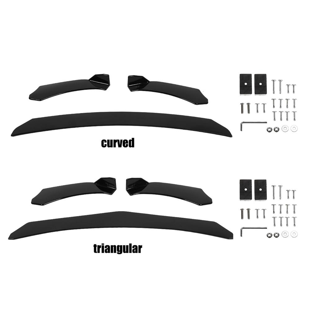 Vehemo Universal Car Front Bumper Can Adjustment Triangle Black for VW <font><b>Mercedes</b></font> Honda Civi BMW Audi image